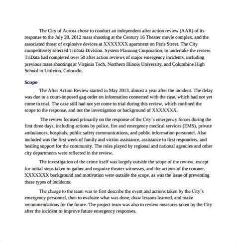 sample  action report  sample  format