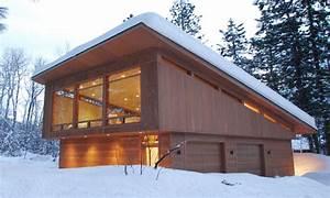 modern shed roof garage
