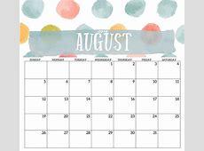 2018 August Calendar Template – Business Calendar Templates