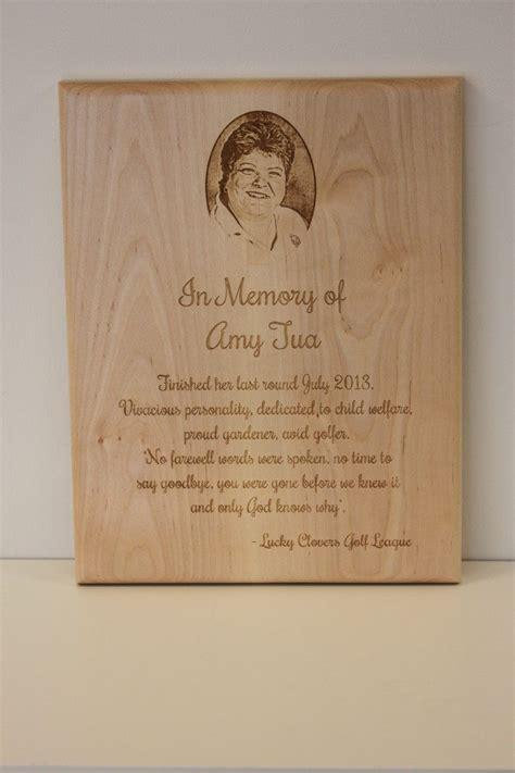wooden memorial plaque   flash laser ipad laser
