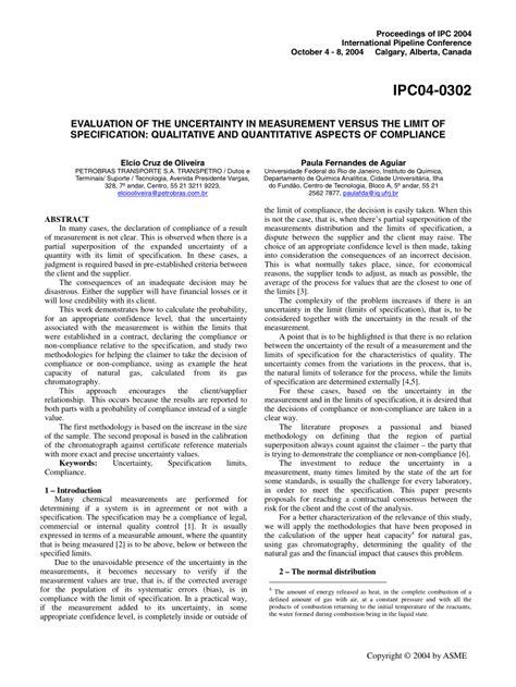 (PDF) Evaluation of the Uncertainty in Measurement Versus