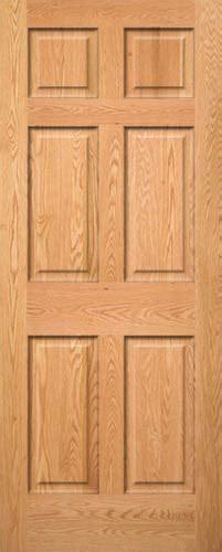 red oak  panel wood interior doors homestead doors