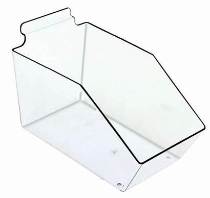Slatwall Bin Acrylic Plastic Clear Bins 6in