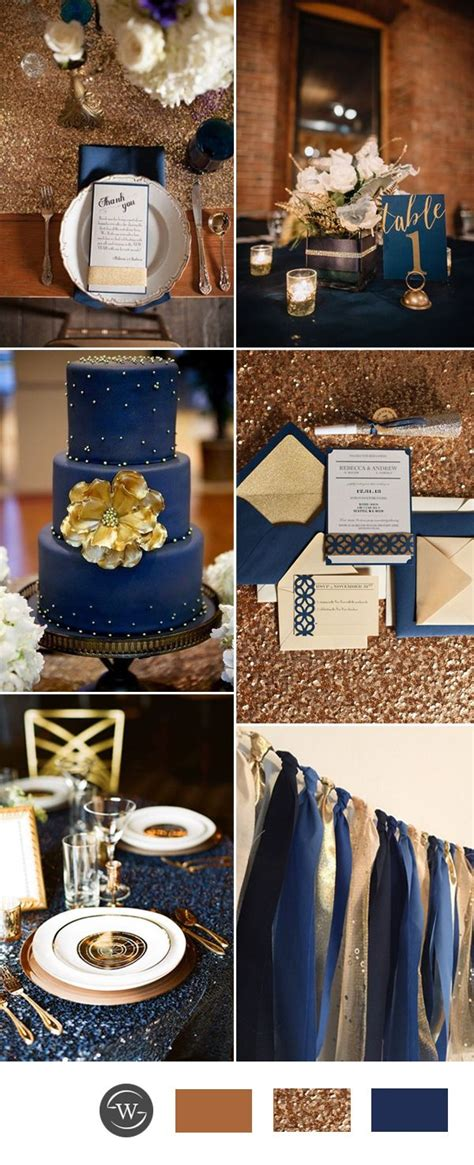 stunning navy blue wedding color combo ideas for 2017