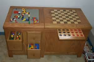 Wooden Bench Toy Box