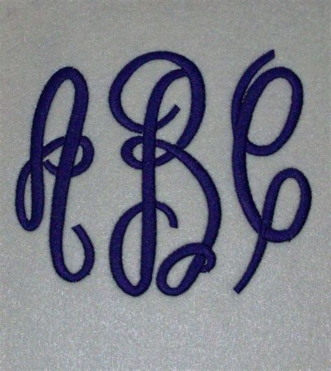 letter embroidery machine monogram alphabet font set