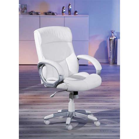 chaise de bureau blanc fauteuil de bureau alberti blanc 99803160 achat