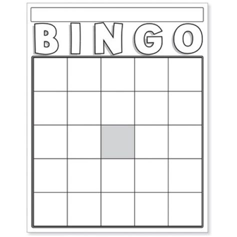 blank bingo cards white hyg game supplies