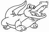 Coloring Pages Crocodiles Crocodile sketch template