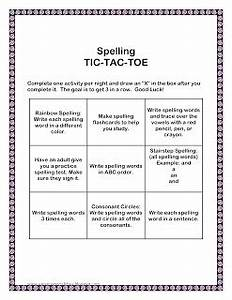 Squyres39 special class homework linky party for Tic tac toe menu template