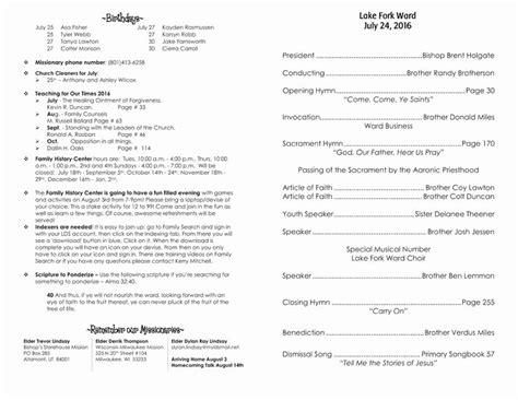 lds ward council agenda template   template