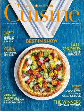 magazine de cuisine gastronomique cuisine magazine mar apr 2013 157 eat your books