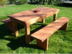 Make Outdoor Wood Table by Garden Tables Archive Furniture