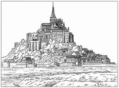 Michel Mont Coloring Saint Pages Architecture France