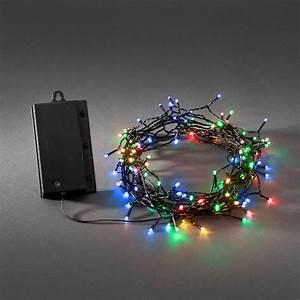 Weihnachtsbeleuchtung Mit Batterie Und Timer : konstsmide led lichterkette 120 led bunt batteriebetrieb mit sensor und timer schwarzes kabel ~ Orissabook.com Haus und Dekorationen