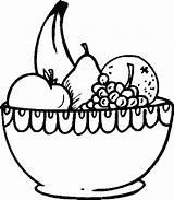 Fruit Bowl Coloring Salad Clipart Fruits Frutas Colorear Printable Dibujos Drawing Buah Pintar Colouring Malvorlagen Dibujo Bodegon Vegetables Flores Imprimir sketch template
