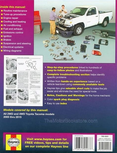 motor auto repair manual 2005 toyota tacoma spare parts catalogs toyota tacoma 2wd 4wd repair manual 2005 2015 haynes