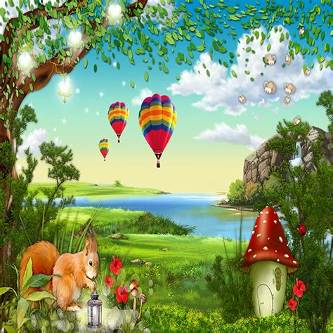 custom photo wallpaper  cartoon forest childrens room
