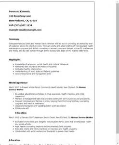 How To List Community Service On Resume Exles by Professional Human Service Worker Templates To Showcase