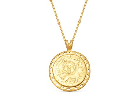 lucy williams rising sun medallion necklace ct gold