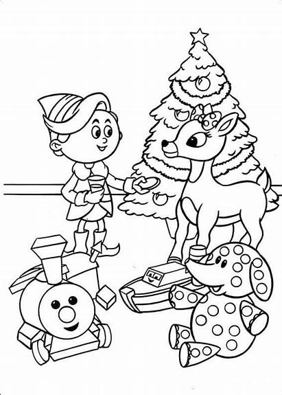 Rudolph Coloring Hermey Reindeer Pages Nosed Printable