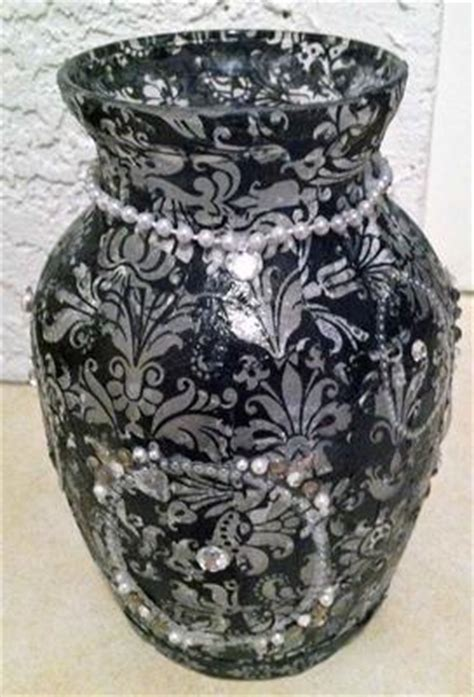 Decoupage Vase - decoupage vases and glass candle holder