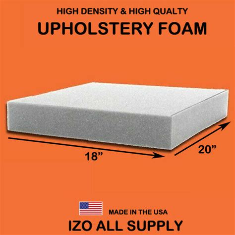 High Density Upholstery Foam by 18 Quot X 20 Quot High Density Seat Foam Cushion Replacement