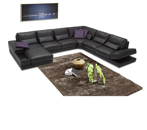 Contemporary Italian Leather Sectional Sofas by Dreamfurniture 942 Contemporary Italian Leather