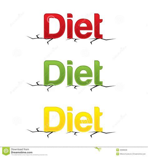 diet by design modern diet design letters stock vector image 46988598