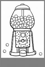 Gumball Machine sketch template