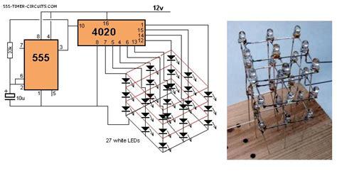 3x3x3 led cube circuit led and light circuit circuit diagram seekic