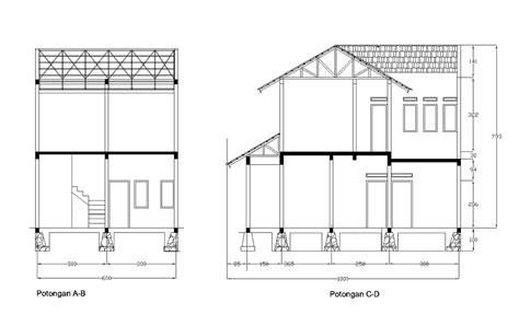 gambar desain  renovasi rumah btn type  desain