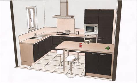 plans de cuisine cuisine en u surface