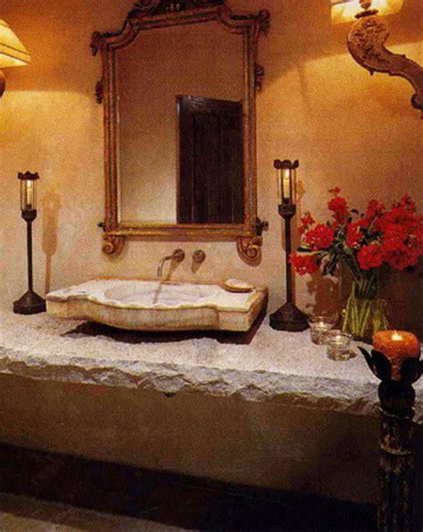 Tuscan Style Bathroom Decorating Ideas by Tuscan Powder Bathroom Design