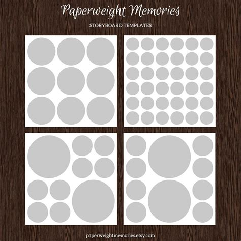 collage template psd 4 20x20 storyboard collage templates templates on creative market