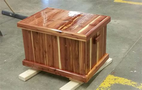 handyman   making  cedar chest