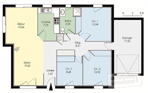prix maison plain pied 3 chambres plan maison 2 chambres plan maison bois 2