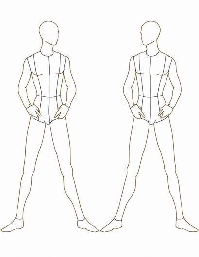Templates Figure Template Male Sketch Croquis Moda