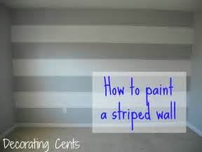 Fall Decorating by Decorating Cents Painting A Striped Wall