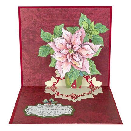 stampendous cling stamps create  poinsettia set