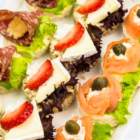canapes italien canapes and finger food variety platter with smoked