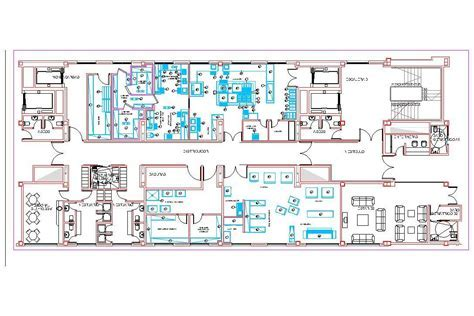 Industrial Kitchen Facilities 2D DWG Plan for AutoCAD