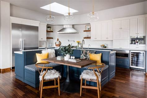 kitchen islands  feature banquette seating