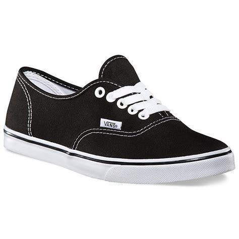 vans authentic lo pro shoes black true white 3 5