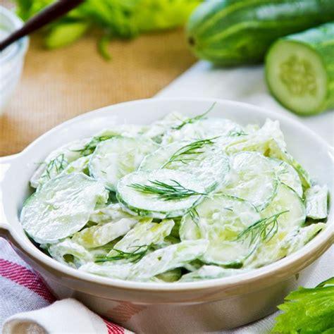 recettes cuisine grecque recette salade de concombre au yaourt