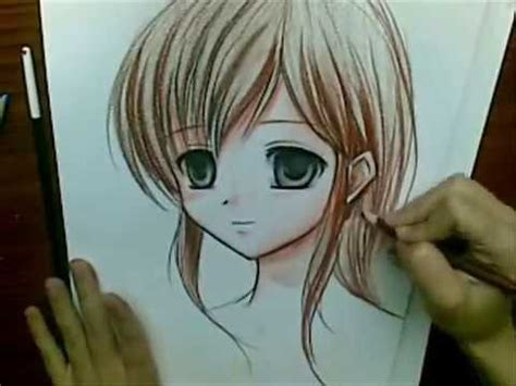 drawing anime  watercolor pencils youtube