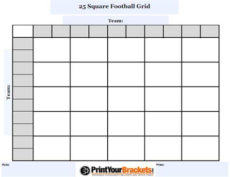 customizable  square football grid customize