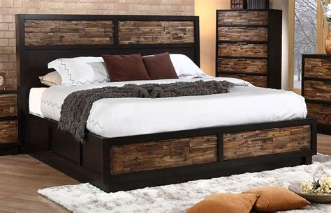 classic makeeda california king storage bed  rustic