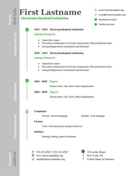free cv resume templates 473 to 479 free cv template