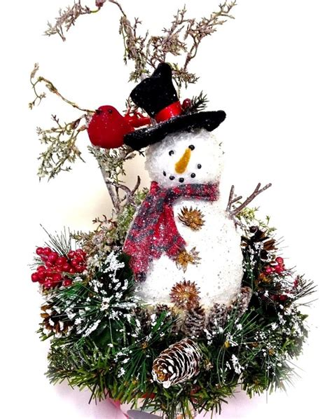 snowman centerpiece ideas 35 christmas centerpieces for holiday table ultimate home ideas